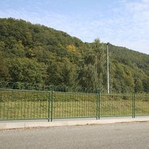 Garden fence / for public spaces / for green spaces / with bars