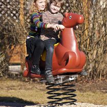 Plastic spring rocker / animals / 2-seater