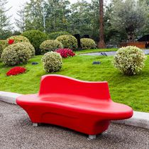 Public bench / contemporary / polyethylene / with backrest