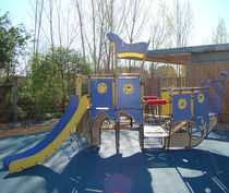 Plastic play structure / stainless steel / HPL / for playgrounds
