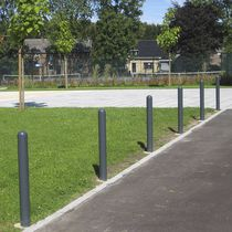 Security bollard / steel / cast aluminum / high