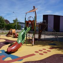 Plastic play structure / steel / HPL / for playgrounds