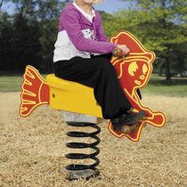 Plastic spring rocker / HDPE / transport / 1-seat