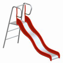 Upright slide / for playgrounds / stainless steel