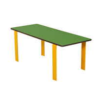 Contemporary table / steel / HPL / rectangular