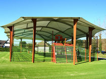 Public space shelter / for athletic fields