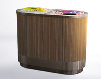 Public trash can / stainless steel / wooden / recycling