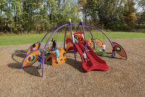 Plastic play structure / steel / for playgrounds / handicapped