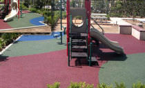 Rubber floor covering / colored / concrete look / impact-resistant