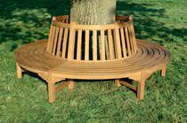 Garden bench / traditional / teak / commercial