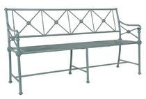 Garden bench / traditional / aluminum / with backrest