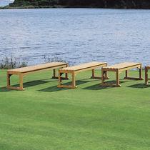 Garden bench / traditional / teak