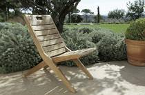 Traditional chair / walnut / folding / garden