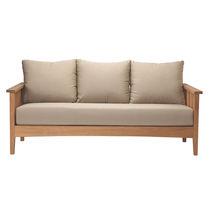 Contemporary sofa / garden / teak / 3-seater