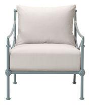 Traditional armchair / aluminium / garden