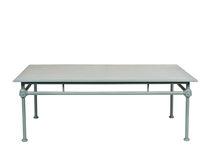 Traditional coffee table / rectangular / garden