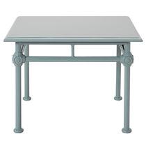 Traditional side table / rectangular / garden