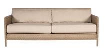 Contemporary sofa / garden / resin wicker / 3-seater