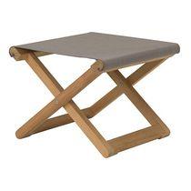 Contemporary footrest / teak / garden