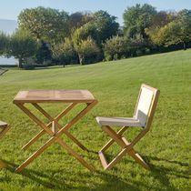 Traditional table / teak / rectangular / garden