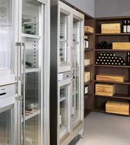 Commercial wine cabinet / floor-mounted / wooden / glazed