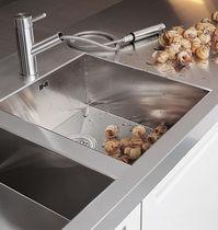 Double kitchen sink / stainless steel