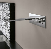 Wall-mounted mixer tap / chromed metal / kitchen / 2-hole