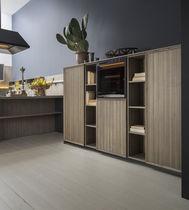 Wooden storage cabinet for kitchen
