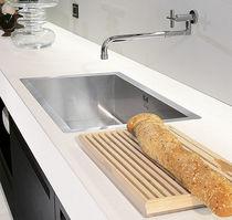 Single-bowl kitchen sink / stainless steel
