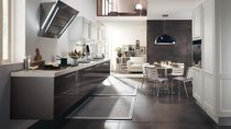 Contemporary kitchen / in wood / lacquered / high-gloss