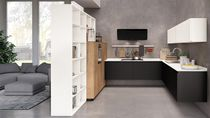 Contemporary kitchen / wooden / matte / lacquered
