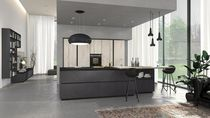 Contemporary kitchen / wooden / island / matte