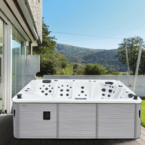 Above-ground hot tub / rectangular / 5-seater / outdoor