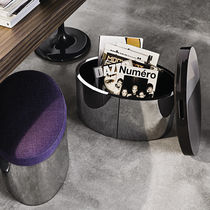 Contemporary pouf / leather / with storage compartment / by Rodolfo Dordoni