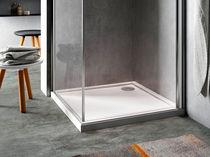 Rectangular shower base / acrylic / with extra-flat drain