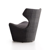 Contemporary armchair / resin wicker / garden / by Naoto Fukasawa