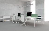 Contemporary work table / MDF / rectangular / commercial