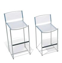 Contemporary bar chair / steel / PVC