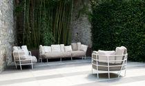 Contemporary sofa / garden / steel / by Michele De Lucchi