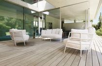 Contemporary daybed / steel / garden / by Michele De Lucchi