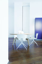 Contemporary chair / tablet / with armrests / adjustable