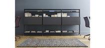 Corner bookcase / modular / contemporary / aluminum
