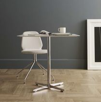 Contemporary table / steel / plywood / laminate