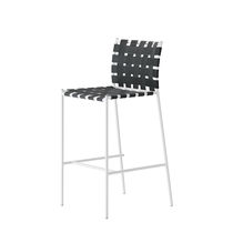 Contemporary bar chair / recyclable / steel / lacquered steel