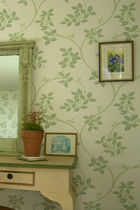 Traditional wallpaper / silk / floral
