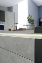 Contemporary kitchen / laminate / island / matte