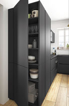 Contemporary kitchen / wood veneer / laminate / L-shaped