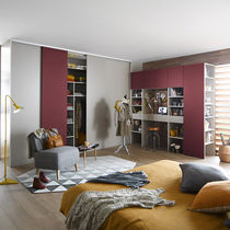 Wall-mounted wardrobe / contemporary / sliding door