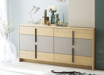 Contemporary chest of drawers / oak