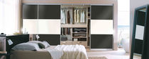 Wall-mounted walk-in wardrobe / contemporary / wooden / with sliding door